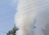 حريق في احد المباني المهجورة في باقة الغربية