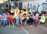استقبال صفوف البستان في مدرسة بير السكة الابتدائية