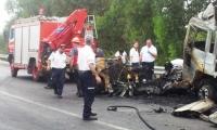قتيلان في حادث طرق بين شاحنة وتجارية عند مفرق المجدل
