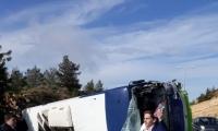 إصابة 35 شخصًا بينهم بجراح خطيرة جراء انقلاب حافلة ركّاب قرب القدس