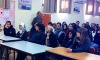 مدرسة الجليل الثانوية تستقبل الممرضة مريم محمود شلبي لمحاضرة حول التبرع بالأعضاء البشرية