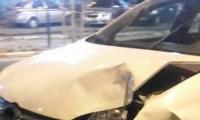 حادث طرق ذاتي في باقه الغربيه يسفر عن اصابة شاب بجراح بين الطفيفه والمتوسطه