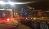 باقة الغربية-اصطدام شاحنة بنخلة عند دوار المنارة