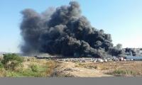 حريق في ورشة سيارات بين باقة الغربية وجت