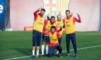 MSN يعود لتدريبات برشلونة.. وميسي يُثير القلق