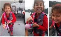 فيديو: طفلة تصطاد سمكة ضخمة بصنارة باربي