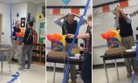 فيديو: معلم ينهار في البكاء بسبب موقف من طلابه
