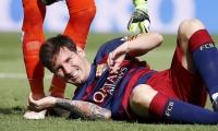 ميسي يشارك مع برشلونة تحت تأثير الإصابة