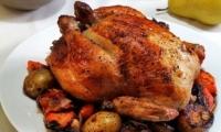 الدجاج المحشي مع الخضراوات - مطبخ منال العالم