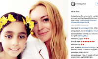 الممثلة الأمريكية ليندسي لوهان تزور اللاجئين السوريين :