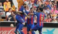برشلونة يذبح خفافيش فالنسيا بسيف ميسي
