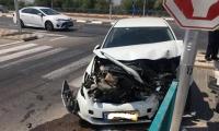 3 اصابات احداها متوسطة بحادث طرق مروع على مدخل جلجولية