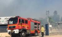 نشوب حريق قرب مدرسة يمة الثانوية
