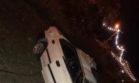 زيمر: انقلاب سيارة في حادث طرق ذاتي وإصابة شخص