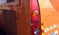تعرض حافلة من النقب لحادث اثناء عودتها من مظاهرة كفر كنا