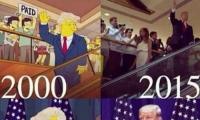 فيديو: مسلسل سيمبسون يتوقع فوز ترامب بالرئاسة قبل 16 عاماً وبنفس المشهد!