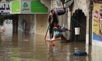 إجلاء 5000 شخص من منطقة منكوبة في غزة بسبب الفيضانات