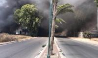 باقة الغربية: اندلاع حريق هائل قرب المنازل
