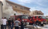 زيمر: اندلاع حريق في محل قطع غيار وزيوت