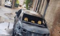 زيمر :حرق سيارات في بير السكة  والشرطة تحقق
