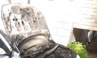 حرق سيارة الشاب الصيدلاني وسيم شريف عواوده امام بيته في كفركنا واضرار جسيمة دون اصابات
