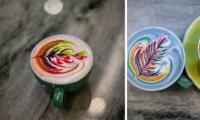 صور: أمريكي يبدع في تحويل القهوة للوح فنية