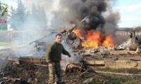 مقاتلو الحر يسقطون مروحية تحت القصف في