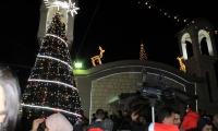 الاحتفال باضاءة شجرة الميلاد في كنيسة رقاد السيدة العذراء بعرابة