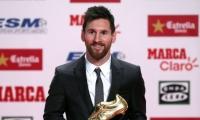ميسي يستلم جائزة الحذاء الذهبي لأفضل هداف بأوروبا