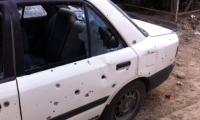 اطلاق وابل من الرصاص على سيارة فتحي رفيق اغبارية في حي عين خالد في أم الفحم