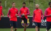 فيديو : نجوم برشلونة يتدربون بطريقة خاصة جدًا