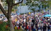 المئات من العاملين في مجال التمريض يتظاهرون في تل ابيب