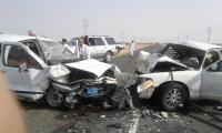 أربع إصابات  في حادث في الطيبه إحداها بين متوسطة وخطيرة