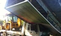 مصرع رجل (45 عاما) بعد وقوع جسر على شاحنة كان يقودها في كفار سابا