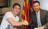 رئيس برشلونة يبدأ محادثات تمديد عقد ميسي