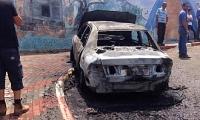 حرق سيارة معلمة مدرسة في عرعرة والشرطة تحقق